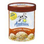 Anderson dairy - Butter Pecan Premium Ice Cream 0079117012893  / UPC 079117012893
