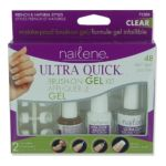 Nailene - Ultra Quick Brush-on Gel Kit French & Natural Styles 1 Kit 0079181712897  / UPC 079181712897