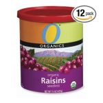 O Organics - Raisins Can Prepacked Tins 0079893601113  / UPC 079893601113