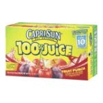 CapriSun - 100% Juice - Fruit Punch Juice 0087684001103  / UPC 087684001103