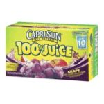 CapriSun -  100% Juice -   100% Juice Grape Juice 0087684001110 UPC 08768400111