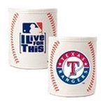 Great American Products -  MLB Texas Rangers Baseball Can Holder (Set of 2) 0089006003123