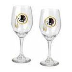 Great American Products -  Great American Products Washington Redskins Wine Glass Set 0089006020694