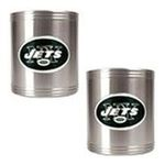 Great American Products -  Great American Products New York Jets 2 Piece Stainless Steel Can Holder Set 0089006027723