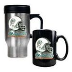 Great American Products -  Great American Miami Dolphins Helmet Travel & Ceramic Mug Set 0089006029185