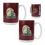 Great American Products -  Great American Products New Orleans Saints Gameball Helmet Mug 2 Piece Set 0089006030969