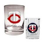 Great American Products -  MLB Minnesota Twins Rocks Glass and Square Shot Glass Set 0089006033830
