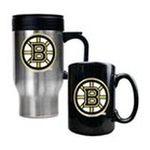 Great American Products -  Great American Boston Bruins Stainless Steel Travel Mug & Ceramic Mug Set 0089006043525