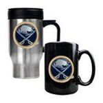 Great American Products -  Great American Buffalo Sabres Stainless Steel Travel Mug & Ceramic Mug Set 0089006043532
