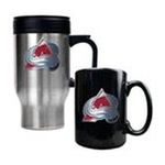 Great American Products -  Great American Colorado Avalanche Stainless Steel Travel Mug & Ceramic Mug Set 0089006043693