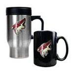 Great American Products -  Great American Phoenix Coyotes Stainless Steel Travel Mug & Ceramic Mug Set 0089006043709