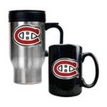 Great American Products -  Great American Montreal Canadiens Stainless Steel Travel Mug & Ceramic Mug Set 0089006043792