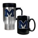 Great American Products -  Michigan Wolverines Travel and Coffee Mug Set 0089006047394