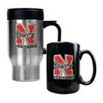 Great American Products -  Nebraska Cornhuskers Travel and Coffee Mug Set 0089006047523