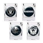 Great American Products -  Great American Oakland Raiders Square Logo Shot Glass - Set of 4 0089006523287