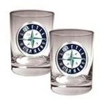 Great American Products -  MLB Seattle Mariners Rocks Glass (Set of 2) 0089006573893