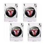 Great American Products -  Great American Products Miami Heat 2012 NBA Finals Champions 4 Piece  Square Shot Glass 0089006634617