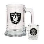 Great American Products -  Great American Oakland Raiders Tankard & Shot Glass Set 0089006706499