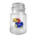 Great American Products -  Kansas Jayhawks  Glass Candy Jar 0089006759495