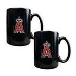 Great American Products -  MLB Anaheim Angels Ceramic Mug in Black (Set of 2) 0089006863871