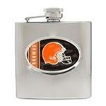 Great American Products -  NFL Browns  Stainless Steel Hip Flask 0089006864359