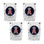 Great American Products -  MLB Anaheim Angels Square Shot Glass (Set of 4) 0089006887150
