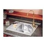 Elkay -  Self-Rimming Stainless Steel Gourmet Kitchen Sink Set - Drain Board: Right Side, Faucet Hole: Yes 0094902001555
