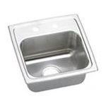 Elkay -  Lustertone 15 x 15 Stainless Steel Bar Sink - Configuration: Three Hole 0094902001630