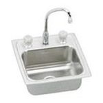 Elkay -  Pacemaker Self Rimming Stainless Steel Sink with Three Hole Faucet 0094902001692