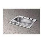 Elkay -  Celebrity 25 x 22 Self-Rimming Stainless Steel Sink Set - Configuration: Four Hole 0094902003863