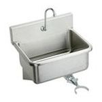 Elkay -  EWS2520KC 25 Wall Mount 14 Gauge Stainless Steel Scrub Sink with Spout  Knee Valve and Drain Fitting: Stainless 0094902023991