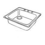 Elkay -  Dayton Stainless Steel Single Bowl Three-Hole Kitchen Sink - Drain Configuration: Right 0094902026060