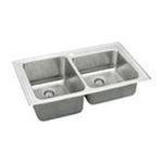 Elkay -  Lustertone Gourmet 37 x 22 4 Hole Double Bowl Sink Set 0094902031583