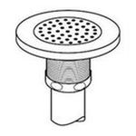 Elkay -  Drain Outlet with Perforated Grid Strainer - Tailpiece: Chrome Plated 0094902033242