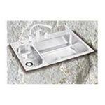 Elkay -  Lustertone Gourmet 33 x 22 Stainless Steel Double Bowl Sink Set - Faucet Hole Options: 3 0094902038285