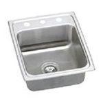 Elkay -  Lustertone Gourmet 17 x 20 Stainless Steel Sink - Faucet Drillings: Three Hole 0094902038490