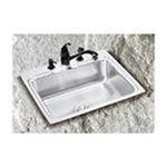 Elkay -  Lustertone Gourmet 25 x 22 Stainless Steel Sink Set - Faucet Drillings: Four Holes 0094902038896