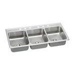 Elkay -  Lustertone Gourmet 46 x 22 Triple Bowl Sink Set 0094902039404