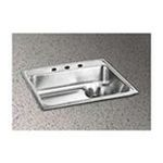 Elkay -  Lusterstone 25 x 22 Single Bowl Sink with Waste Drain Set - Faucet Hole Options: 3 0094902039633