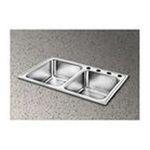 Elkay -  Pacemaker Gourmet 33 x 22 Single Hole Double Bowl Sink Set 0094902044569