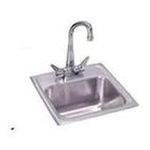 Elkay -  Lustertone 15 x 15 Self-Rimming Stainless Steel Bar Sink Set - Configuration: One Hole 0094902124575