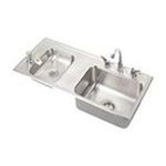 Elkay -  DRKAD371755LC  Lustertone Double Bowl Fountain Classroom Sink: Stainless 0094902176369
