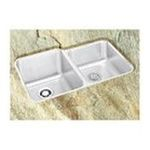 Elkay -  Lustertone 20 x 31 Double Bowl Undermount Stainless Steel Kitchen Sink Set - Smaller Bowl: Right 0094902270487
