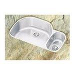 Elkay -  Lustertone Harmony 31 x 21 Double Bowl Undermount Sink Set - Smaller Bowl: Right 0094902270517
