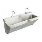Elkay -  EWSF26026SACC Lustrous Satin Utility Sink 16 Guage 18-8 Stainless Steel Wall Mount 2 Basins Rectangular 2 0094902303116