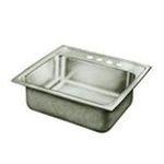 Elkay -  Pacemaker 22 x 22 Single Bowl Sink Set - Faucet Hole Options: 4 0094902336022
