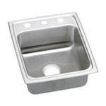 Elkay -  Elkay Lustertone Collection LRADQ1720401 17 Top Mount Single Bowl Stainless Steel Sink with 18-Gauge 0094902381855