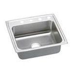 Elkay -  Elkay Lustertone Collection LRADQ2219452 22 Top Mount Single Bowl Stainless Steel Sink with 18-Gauge 0094902382333