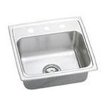 Elkay -  PSRADQ191955RMR2 Single Bowl  2 Holes (Middle/Right) 20 Top Mount Off-Centered Right Drain Opening and Quick-Clip Mounting Stainless Steel 0094902406275