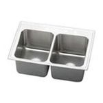 Elkay -  PLA3322104 Pursuit Stainless Steel 33 x 22 Double Basin Top Mount Kitchen Sink with 10 Depth: Stainless 0094902430867